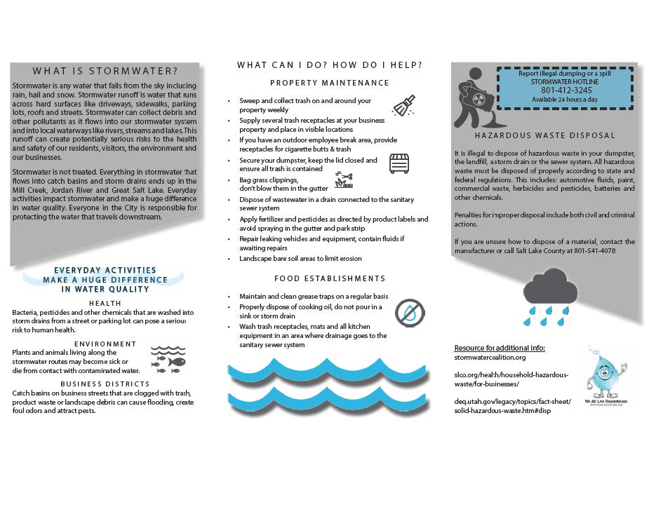 Stormwater for Business Flyer